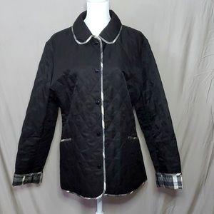 Burberry Jacket Blazer black metallic plaid Large